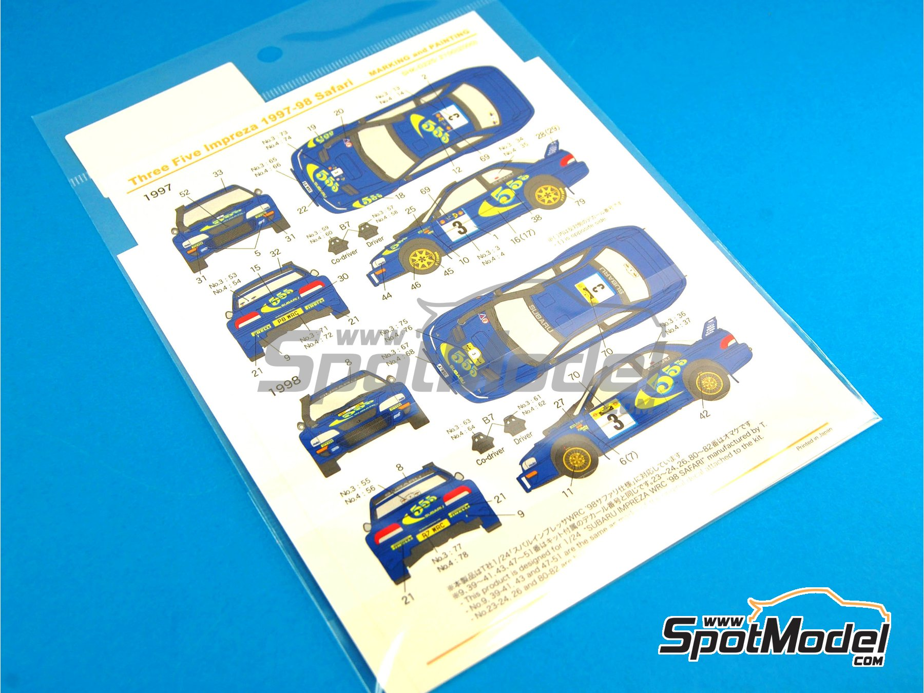 Image 2: Subaru Impreza WRC 555 - Safari Rally 1997 and 1998 | Marking / livery in 1/24 scale manufactured by Shunko Models (ref. SHK-D225)