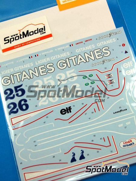 Ligier JS11 Gitanes - Campeonato del Mundo de Formula1 1979 | Decoración en escala1/20 fabricado por Shunko Models (ref.SHK-D232) image