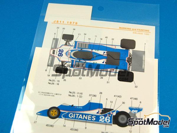 Image 5: Ligier JS11 Gitanes - Campeonato del Mundo de Formula1 1979 | Decoración en escala1/20 fabricado por Shunko Models (ref.SHK-D232)
