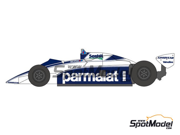 Image 1: Brabham BT50 Parmalat - World Championship 1982 | Marking / livery in 1/20 scale manufactured by Shunko Models (ref. SHK-D237)