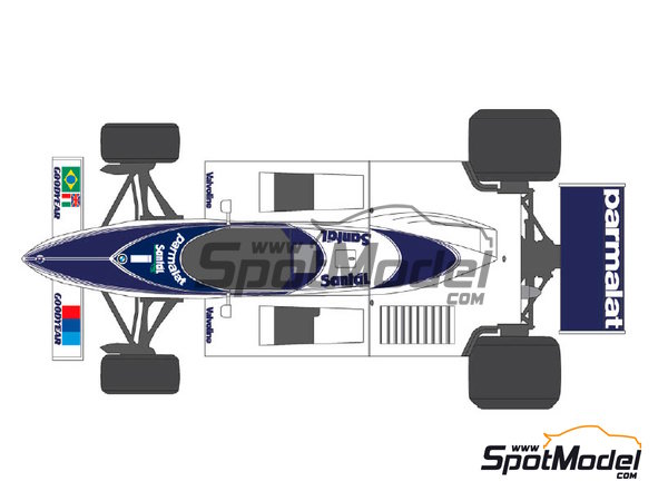 Image 2: Brabham BT50 Parmalat - World Championship 1982 | Marking / livery in 1/20 scale manufactured by Shunko Models (ref.SHK-D237)
