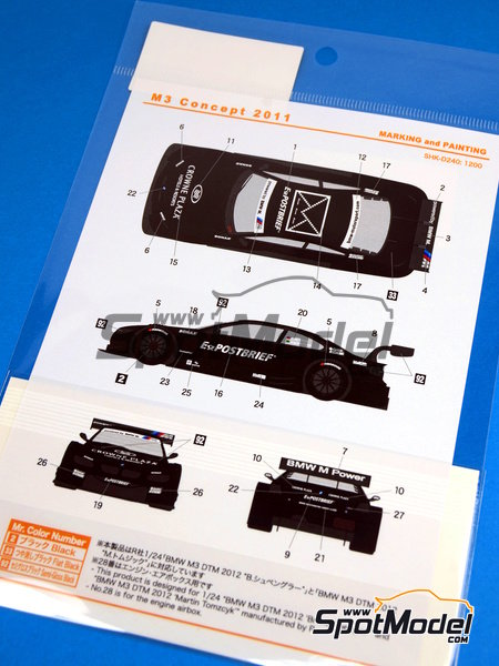 BMW M3 Postbrief - DTM 2011   Marking / livery in 1/24 scale manufactured by Shunko Models (ref.SHK-D240) image