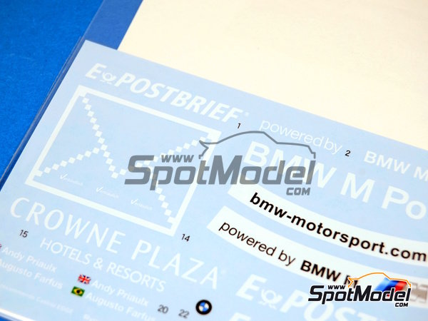 Image 2: BMW M3 Postbrief - DTM 2011   Marking / livery in 1/24 scale manufactured by Shunko Models (ref.SHK-D240)