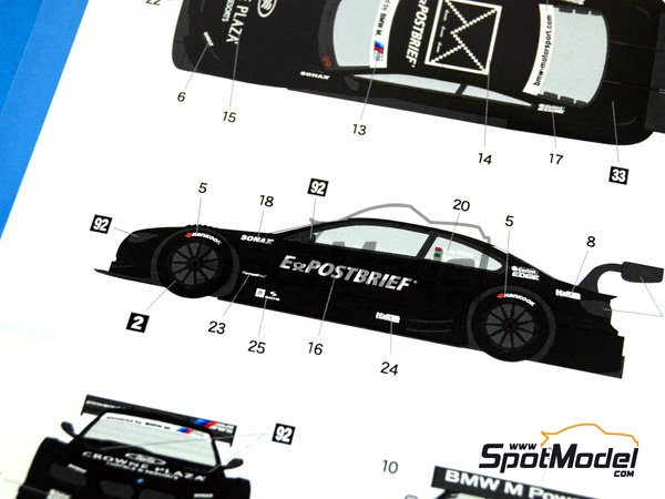 Image 6: BMW M3 Postbrief - DTM 2011   Marking / livery in 1/24 scale manufactured by Shunko Models (ref.SHK-D240)