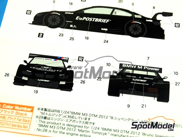 Image 7: BMW M3 Postbrief - DTM 2011   Marking / livery in 1/24 scale manufactured by Shunko Models (ref.SHK-D240)