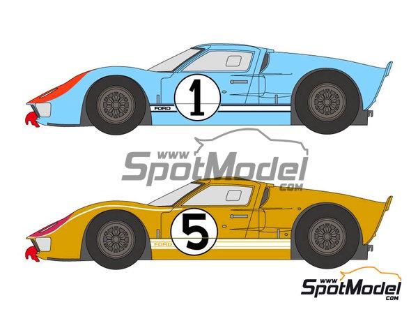 Image 1: Ford GT40 Mk II - 24 Horas de Le Mans 1966 | Decoración en escala1/24 fabricado por Shunko Models (ref.SHK-D250)