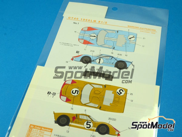 Image 3: Ford GT40 Mk II - 24 Horas de Le Mans 1966 | Decoración en escala1/24 fabricado por Shunko Models (ref.SHK-D250)