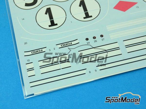Image 6: Ford GT40 Mk II - 24 Horas de Le Mans 1966 | Decoración en escala1/24 fabricado por Shunko Models (ref.SHK-D250)