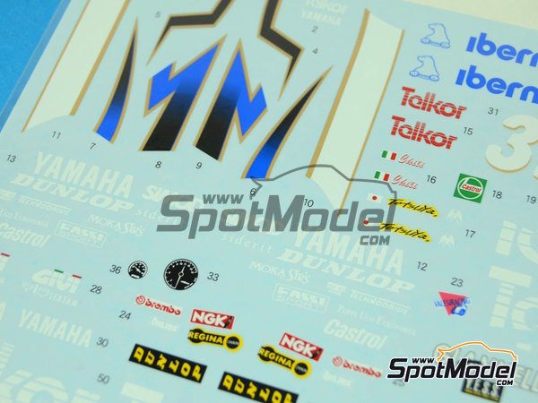 Image 4: Yamaha TZ250M Telkor - Motorcycle World Championship 1993 | Marking / livery in 1/12 scale manufactured by Shunko Models (ref. SHK-D251)