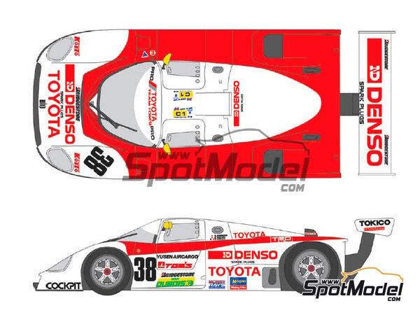 Image 1: Toyota 88C Denso - 24 Horas de Le Mans 1989 | Decoración en escala1/24 fabricado por Shunko Models (ref.SHK-D254)