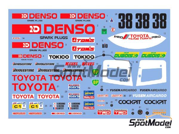 Image 2: Toyota 88C Denso - 24 Horas de Le Mans 1989 | Decoración en escala1/24 fabricado por Shunko Models (ref.SHK-D254)