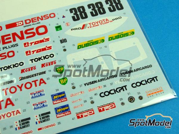 Image 3: Toyota 88C Denso - 24 Horas de Le Mans 1989 | Decoración en escala1/24 fabricado por Shunko Models (ref.SHK-D254)