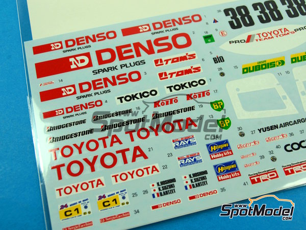 Image 4: Toyota 88C Denso - 24 Horas de Le Mans 1989 | Decoración en escala1/24 fabricado por Shunko Models (ref.SHK-D254)