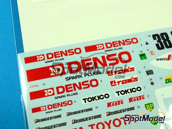 Image 5: Toyota 88C Denso - 24 Horas de Le Mans 1989 | Decoración en escala1/24 fabricado por Shunko Models (ref.SHK-D254)