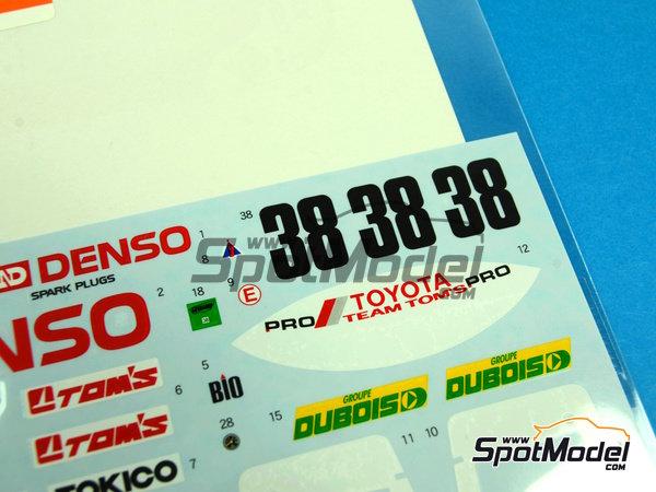 Image 6: Toyota 88C Denso - 24 Horas de Le Mans 1989 | Decoración en escala1/24 fabricado por Shunko Models (ref.SHK-D254)