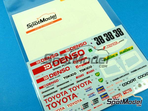 Image 7: Toyota 88C Denso - 24 Horas de Le Mans 1989 | Decoración en escala1/24 fabricado por Shunko Models (ref.SHK-D254)