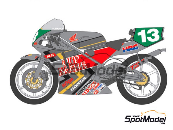 Image 2: Honda NSR250 - Motorcycle World Championship 1992 | Marking / livery in 1/12 scale manufactured by Shunko Models (ref. SHK-D256)