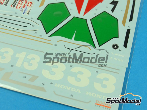 Image 5: Honda NSR250 - Motorcycle World Championship 1992 | Marking / livery in 1/12 scale manufactured by Shunko Models (ref. SHK-D256)