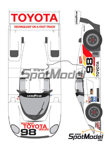 Toyota 88C Kenwood - IMSA 1989 | Marking / livery in 1/24 scale manufactured by Shunko Models (ref. SHK-D258) image