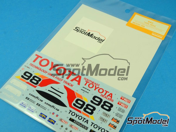 Image 2: Toyota 88C Kenwood - IMSA 1989 | Marking / livery in 1/24 scale manufactured by Shunko Models (ref. SHK-D258)
