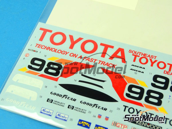 Image 3: Toyota 88C Kenwood - IMSA 1989 | Marking / livery in 1/24 scale manufactured by Shunko Models (ref. SHK-D258)