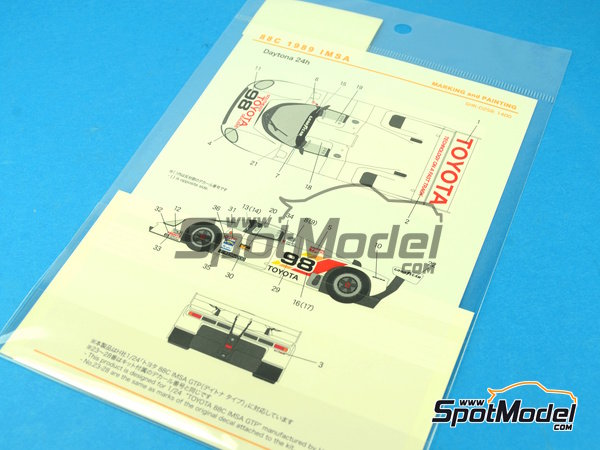 Image 5: Toyota 88C Kenwood - IMSA 1989 | Marking / livery in 1/24 scale manufactured by Shunko Models (ref. SHK-D258)