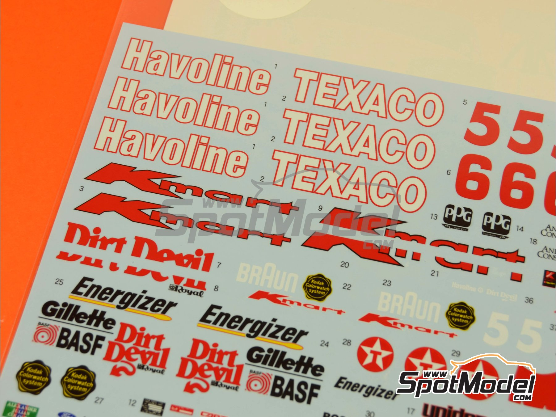 Image 2: Lola Ford T93/00 Havoline Texaco -  1993 | Marking / livery in 1/20 scale manufactured by Shunko Models (ref. SHK-D268)