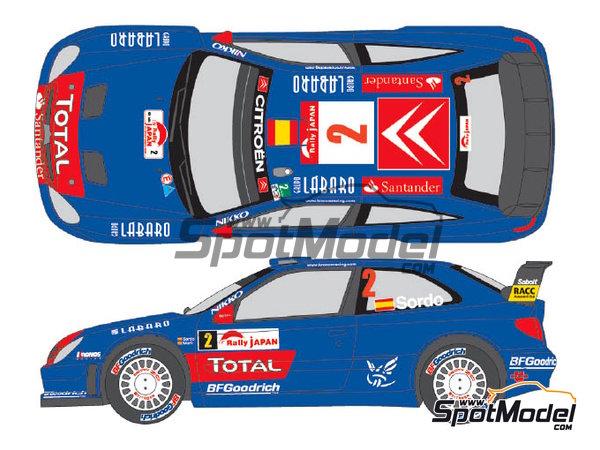 Image 1: Citroen Xsara WRC Gauloises - Rally de Japon 2006 | Decoración en escala1/24 fabricado por Shunko Models (ref.SHK-D270)