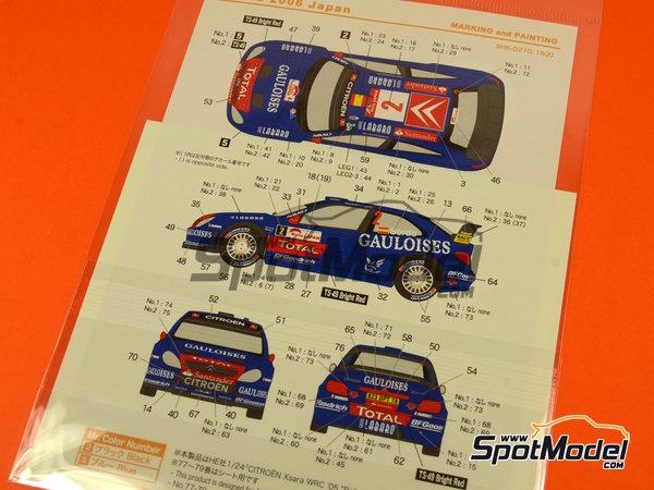 Image 5: Citroen Xsara WRC Gauloises - Rally de Japon 2006 | Decoración en escala1/24 fabricado por Shunko Models (ref.SHK-D270)