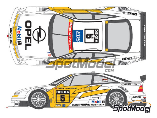 Image 1: Opel Calibra V6 DTM Team Joest - DTM 1994 | Marking / livery in 1/24 scale manufactured by Shunko Models (ref. SHK-D275)