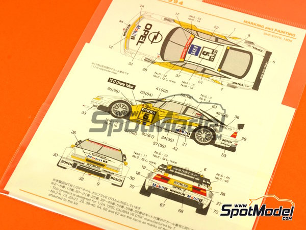 Image 3: Opel Calibra V6 DTM Team Joest - DTM 1994 | Marking / livery in 1/24 scale manufactured by Shunko Models (ref. SHK-D275)