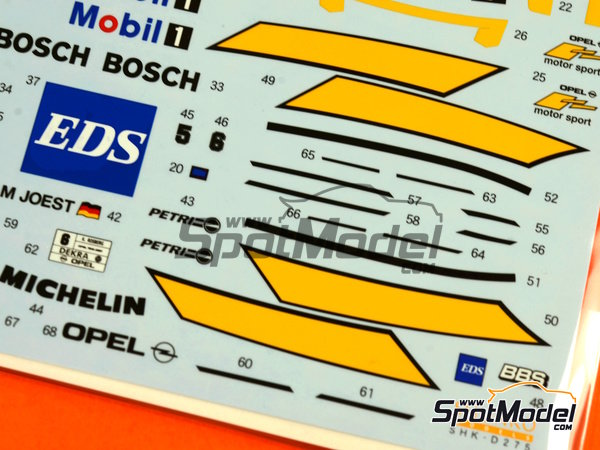 Image 7: Opel Calibra V6 DTM Team Joest - DTM 1994 | Marking / livery in 1/24 scale manufactured by Shunko Models (ref. SHK-D275)