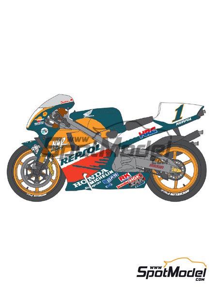 Honda NSR500 Repsol - Campeonato del Mundo de Motociclismo 1998 | Decoración en escala1/12 fabricado por Shunko Models (ref.SHK-D277) image