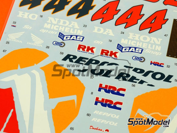 Image 4: Honda NSR500 Repsol - Motorcycle World Championship 1998 | Marking / livery in 1/12 scale manufactured by Shunko Models (ref.SHK-D277)