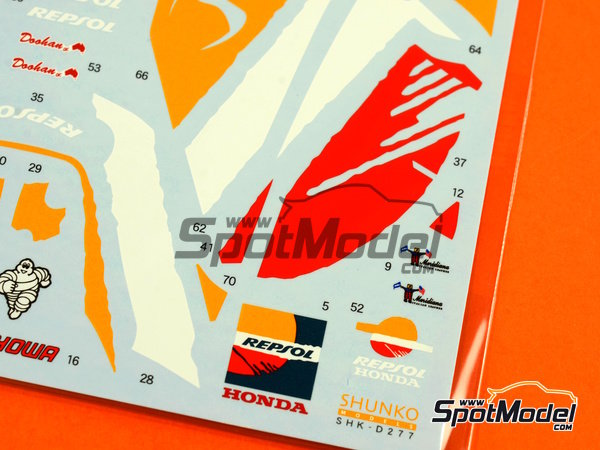 Image 6: Honda NSR500 Repsol - Motorcycle World Championship 1998 | Marking / livery in 1/12 scale manufactured by Shunko Models (ref. SHK-D277)