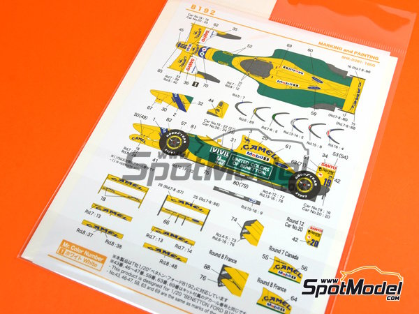 Image 1: Benetton Ford B192 - Campeonato del Mundo 1992 | Decoración en escala1/20 fabricado por Shunko Models (ref.SHK-D281)