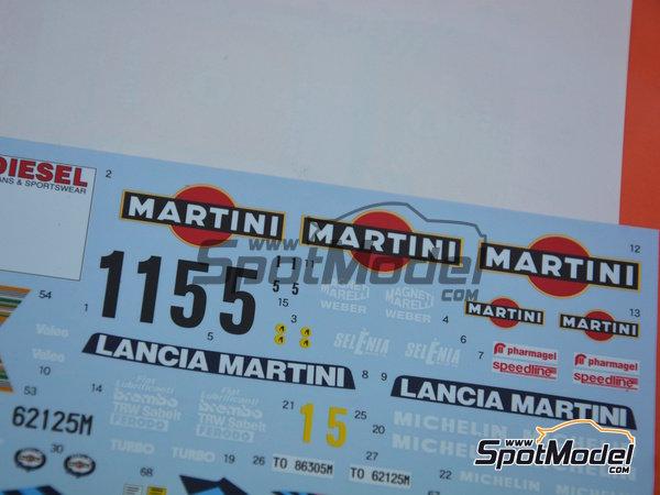 Image 3: Lancia Delta HF Integrale 16v - Rally de San Remo | Decoración en escala1/24 fabricado por Shunko Models (ref.SHK-D284)