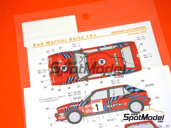 Image 7: Lancia Delta HF Integrale 16v - Rally de San Remo | Decoración en escala1/24 fabricado por Shunko Models (ref.SHK-D284)