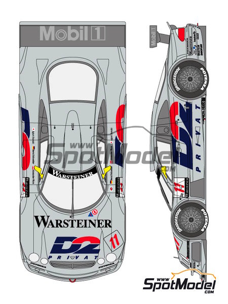 Mercedes CLK-GTR D2 - DTM 1997 | Marking / livery in 1/24 scale manufactured by Shunko Models (ref. SHK-D290) image