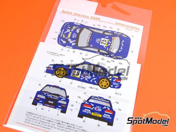 Image 7: Subaru Impreza WRC Spike - Rally de Cataluña Costa Dorada RACC 2000   Calcas de agua en escala1/24 fabricado por Shunko Models (ref.SHK-D291)