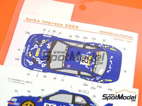 Image 8: Subaru Impreza WRC Spike - Rally de Cataluña Costa Dorada RACC 2000   Calcas de agua en escala1/24 fabricado por Shunko Models (ref.SHK-D291)