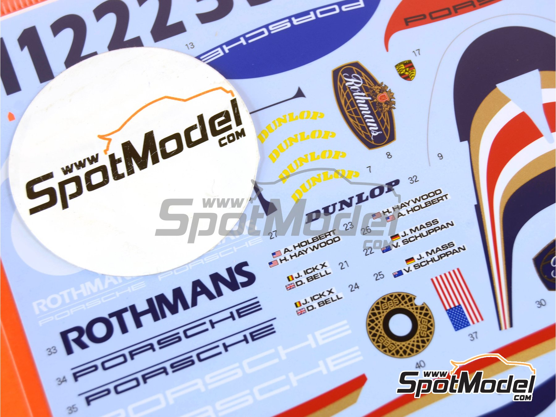 Image 4: Porsche 956 Rothmans - 24 Hours Le Mans 1982 | Marking / livery in 1/24 scale manufactured by Shunko Models (ref.SHK-D299)
