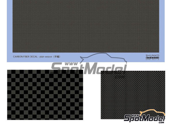 Image 1: Carbon fiber plain weave | Decals manufactured by Shunko Models (ref. SHK-D313)