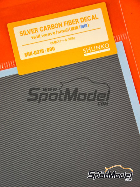Carbon fiber silver twill small | Decals manufactured by Shunko Models (ref. SHK-D316) image