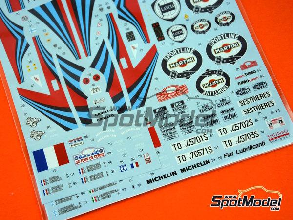 Image 4: Lancia Super Delta HF Integrale Martini - Rally de Montecarlo, Rally Tour de Corse 1992 | Decoración en escala1/24 fabricado por Shunko Models (ref.SHK-D323)