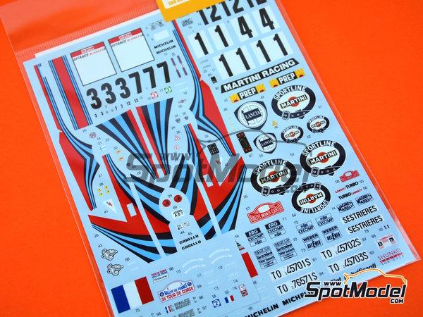 Image 5: Lancia Super Delta HF Integrale Martini - Rally de Montecarlo, Rally Tour de Corse 1992 | Decoración en escala1/24 fabricado por Shunko Models (ref.SHK-D323)