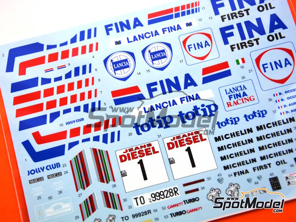 Image 2: Lancia Delta HF 16v Fina - Sanremo Rally 1991 | Marking / livery in 1/24 scale manufactured by Shunko Models (ref. SHK-D324)