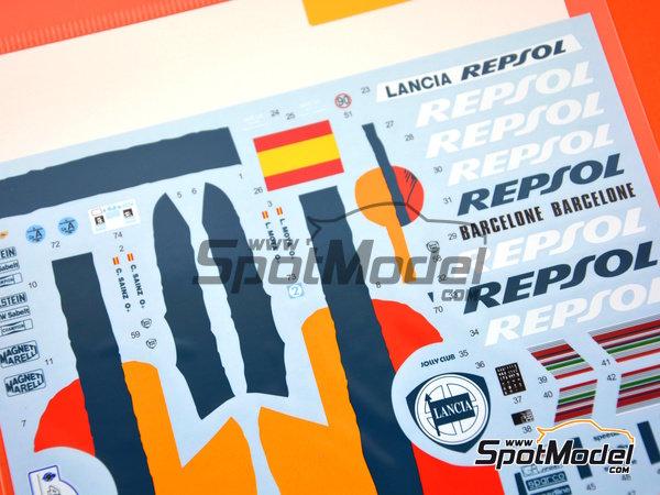 Image 3: Lancia Delta HF 16v Repsol - Rally de Acropolis, Rally de Montecarlo 1993 | Decoración en escala1/24 fabricado por Shunko Models (ref.SHK-D325)