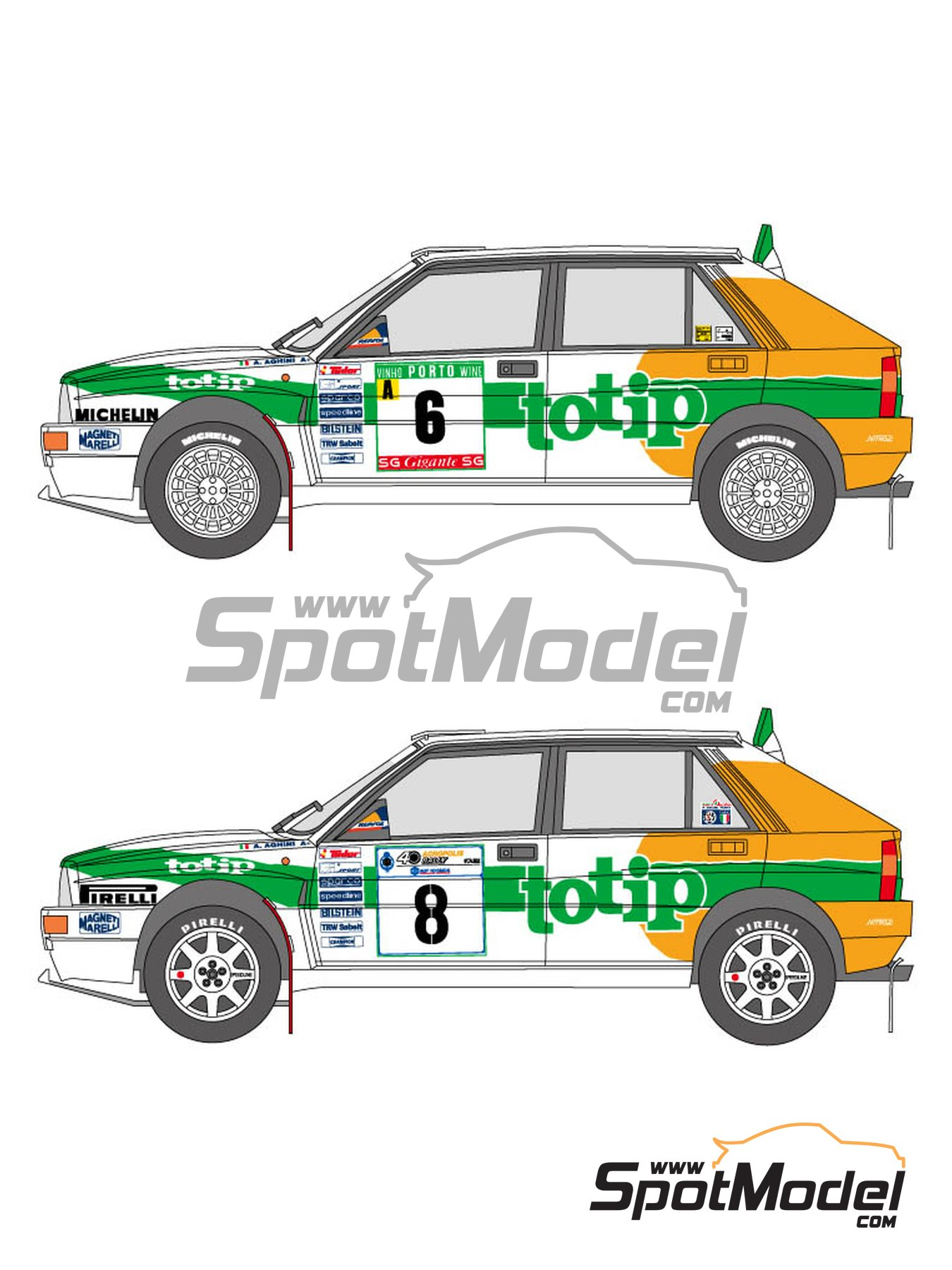 Lancia Super Delta Totip - Acropolis rally, Portugal Rally 1993 | Marking / livery in 1/24 scale manufactured by Shunko Models (ref. SHK-D326) image