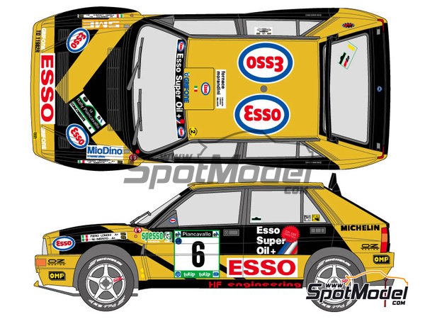 Image 1: Lancia Super Delta HF Integrale - Rally Piancavallo 1993 | Marking / livery in 1/24 scale manufactured by Shunko Models (ref. SHK-D327)